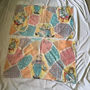 VTG Raggedy Ann and Andy Standard Size Pillow Case